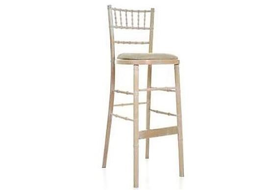 Limewashed Chivari Stool