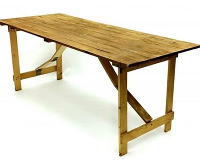 Rustic Trestle Table 6ft