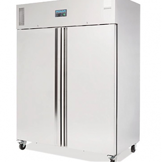 Stainless Steel Double Fridge Upright