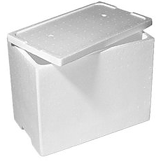 Hot/Cold Polystyrene Food Box (lge)