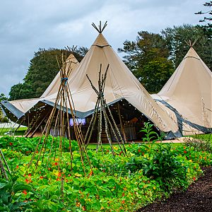 Big and small Tipi tent