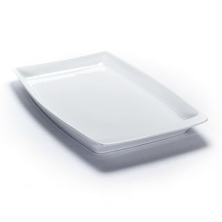 Ceramic Rectangular Platter - Raised Edge